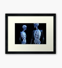 transparent body Framed Print