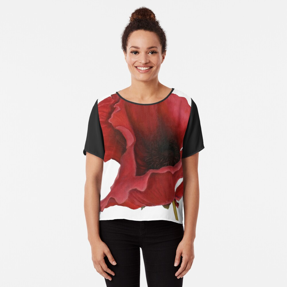 Poppy By Dianna Derhak Chiffon Top