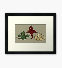 Game of Thrones Dragons Framed Print