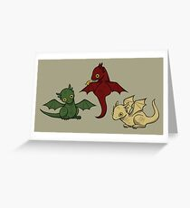 Game of Thrones Dragons Greeting Card