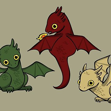 Game of Thrones Dragons by WildSally