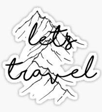 let's travel Sticker