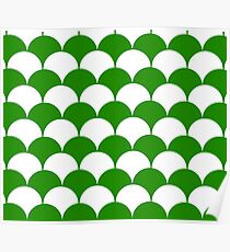Abstract pattern - green and white. Poster