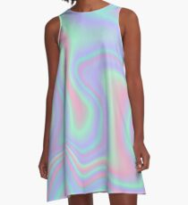 Holographic Design 2 A-Linien Kleid
