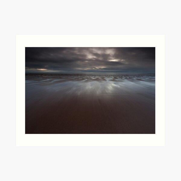 wet sand, lunan bay Art Print