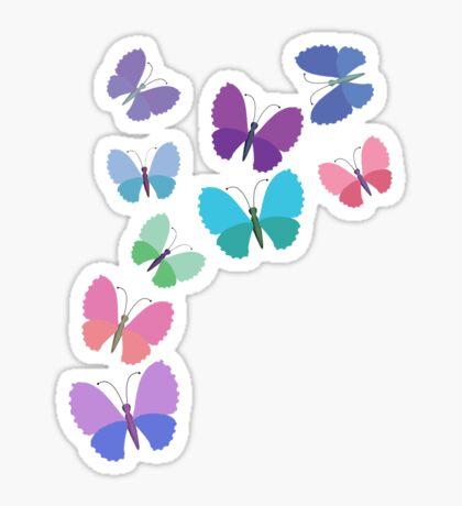 butterfly flutterby Sticker