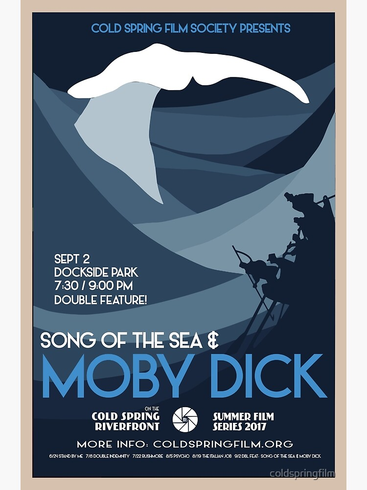 MOBY DICK: Cold Spring Film Society's 2017 Season Poster by coldspringfilm