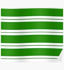 Strips - green and white. Poster