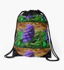 Grape Hyacinth aka Muscari Drawstring Bag
