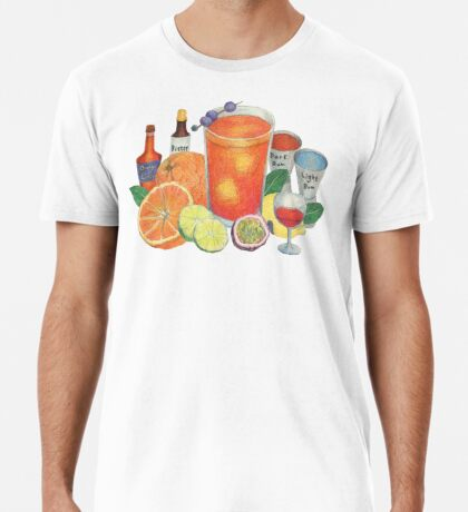cocktail recipe pattern _ zombie Premium T-Shirt
