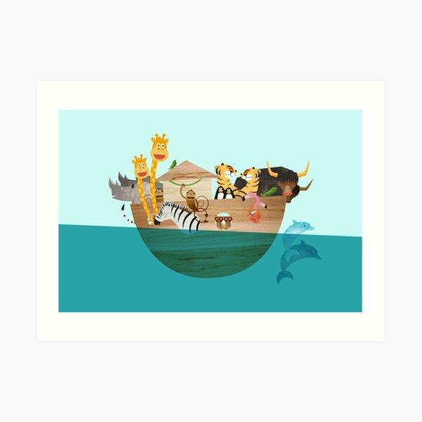 Arche Noah – Alle Tiere an Bord Kunstdruck