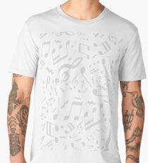 Violin Key Music Pattern Men's Premium T-Shirt