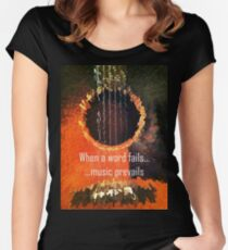 Guitar Extruded - Music Prevails Women's Fitted Scoop T-Shirt