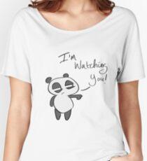 I'm Watching You Panda Women's Relaxed Fit T-Shirt