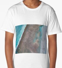 cable beach reef areial  Long T-Shirt