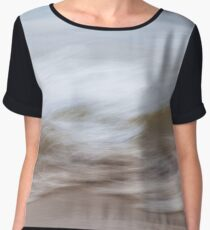 Waves and sand abstract Women's Chiffon Top