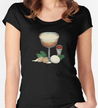 cocktail recipe pattern _ brandy flip Fitted Scoop T-Shirt