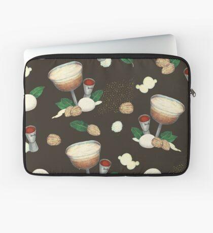 cocktail recipe pattern _ brandy flip Laptop Sleeve