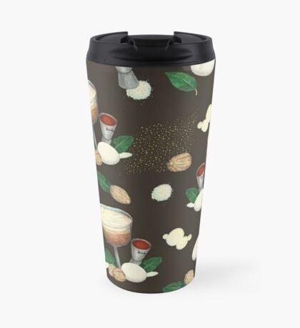 cocktail recipe pattern _ brandy flip Travel Mug