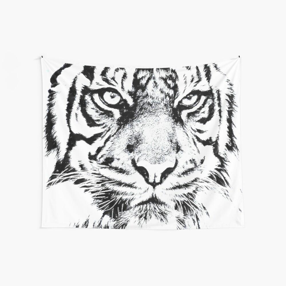 Tigre enojado Tela decorativa
