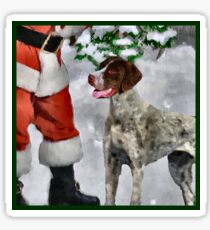 German Shorthaired Pointer Christmas Gifts Sticker