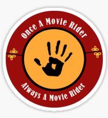 Once A Movie Rider Sticker