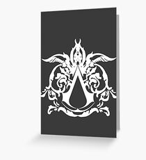 assassins creed white Greeting Card