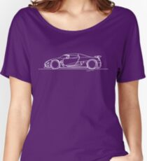 Koenigsegg Agera - Single Line Women's Relaxed Fit T-Shirt