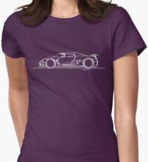 Koenigsegg Agera - Single Line Women's Fitted T-Shirt