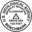 Brindley Mountain, Alabama USGS Style Benchmark by topou