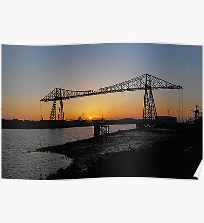 The Transporter Bridge at Middlesbrough England Poster