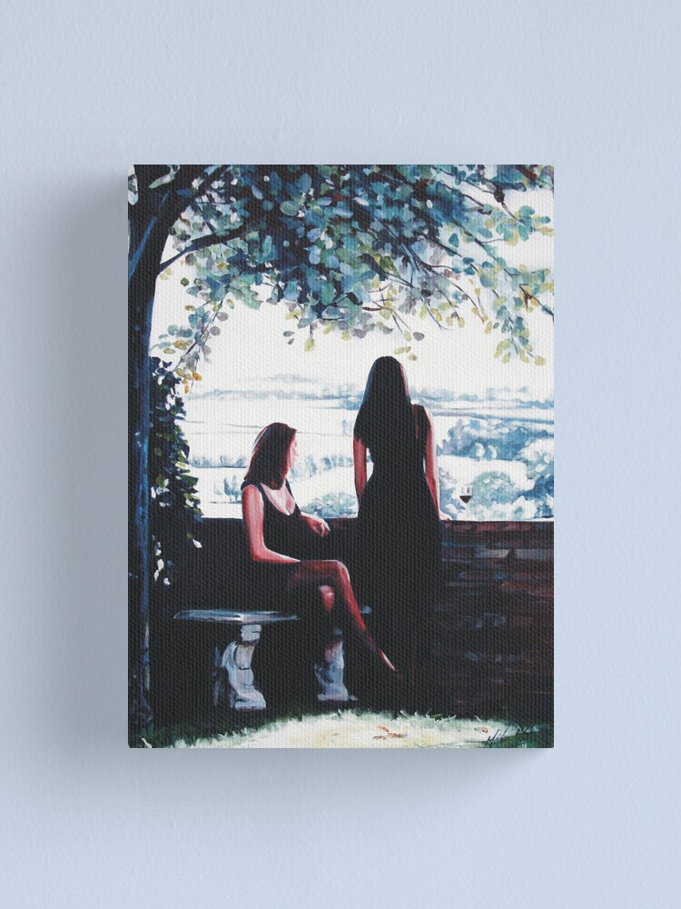 Alternate view of A Glass of Wine Canvas Print