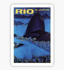 1963 Rio De Janeiro Brazil Travel Poster Sticker