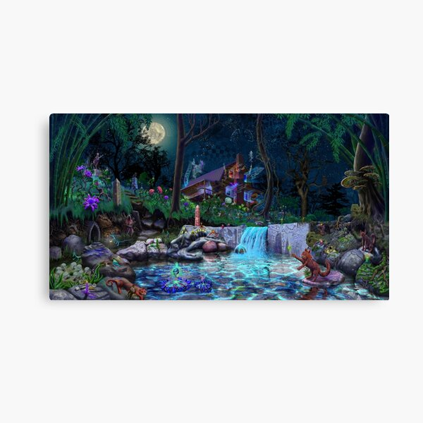 The PsyCabin - Trippy Psychedelic Visionary Garden Canvas Print