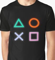 Playstation Buttons Symbols Graphic T-Shirt
