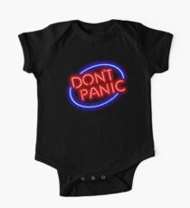 "Hitchhiker's Guide - ""Don't Panic"" Neon Sign One Piece - Short Sleeve"