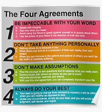 the four agreements printable Poster