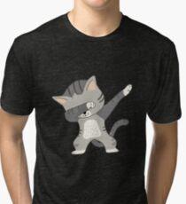 Dabbing Cat T-Shirt Tri-blend T-Shirt