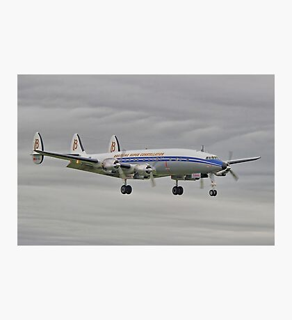 "The Lockheed Constellation (""Connie"") Arrives At Farnborough ! - HDR Photographic Print"