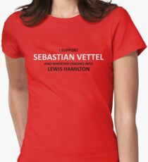 I SUPPORT SEB VETTEL Women's Fitted T-Shirt