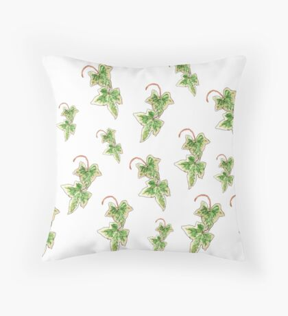Hedera helix Variegata Throw Pillow