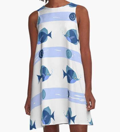 AFE Blue Fish A-Line Dress