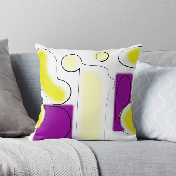 Yellow And Purple Throw Pillow