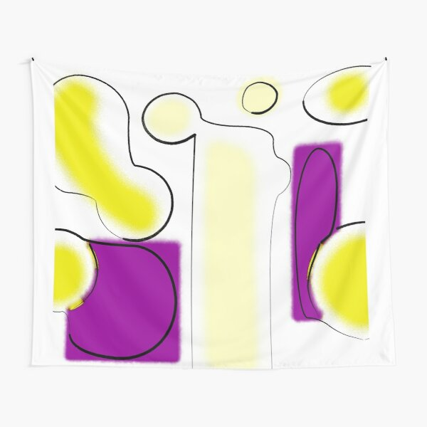 Yellow And Purple Tapestry