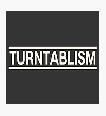 Turntablism white color Photographic Print