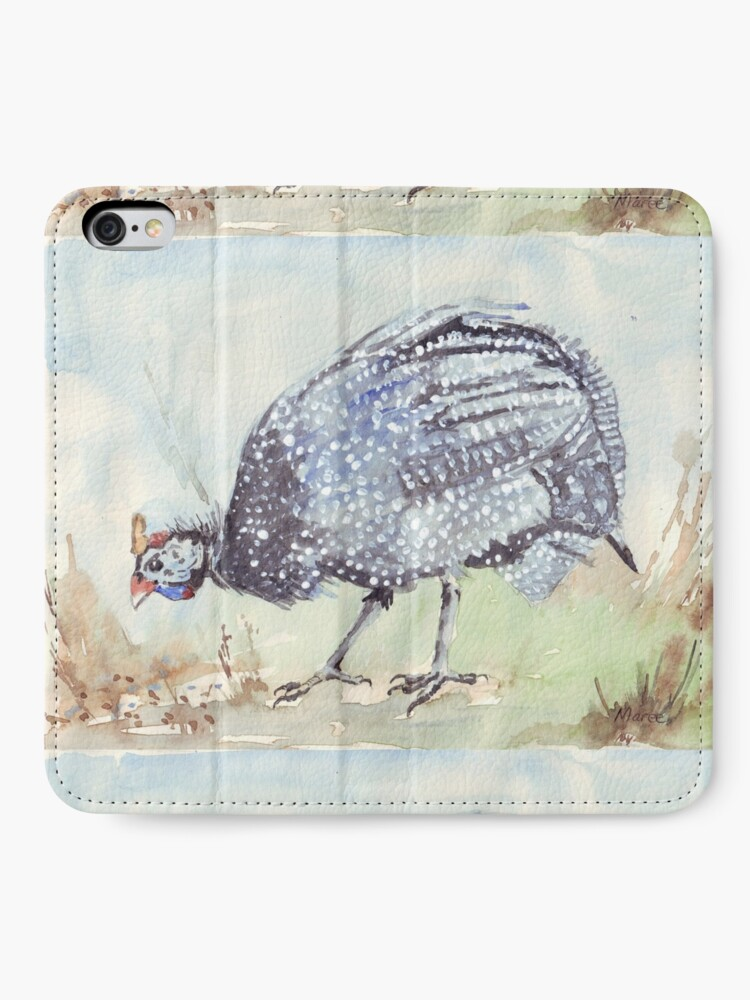 Alternate view of Listen to the Guinea Fowl iPhone Wallet