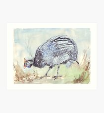 Listen to the Guinea Fowl Art Print