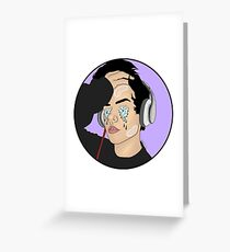 Wes Tucker Purple Background White Products Greeting Card
