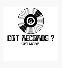 Got records black color Photographic Print