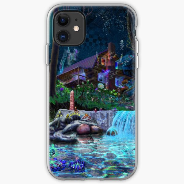 The PsyCabin - Trippy Psychedelic Visionary Garden iPhone Soft Case